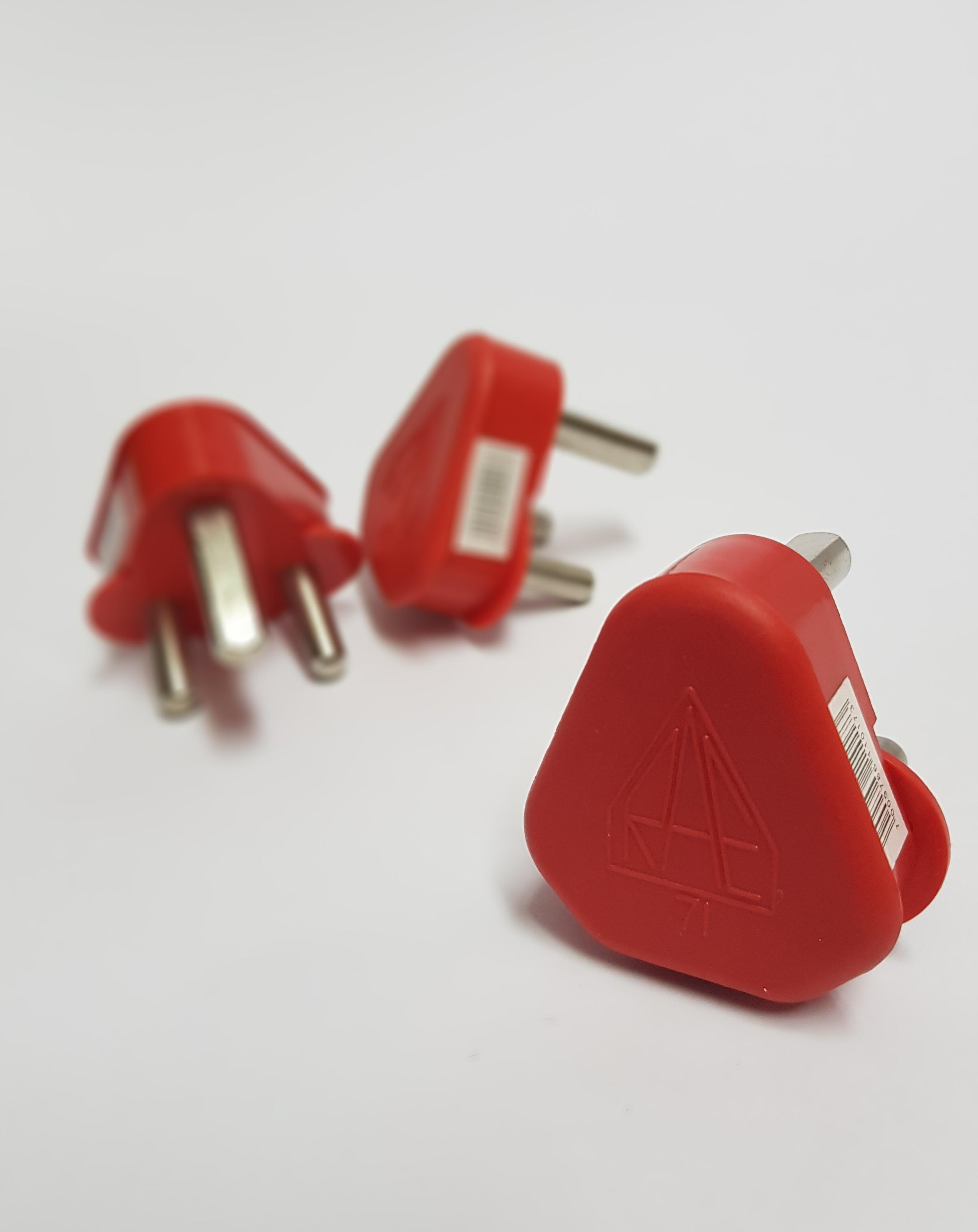 3 Pin Plug  Dedicated  Red  U2013 Sircony