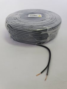 Speaker cable (100m) BLACK with white tracer line 0.75mm