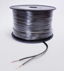 SPEAKER CABLE (100M) BLACK WITH WHITE TRACER 0.5mm