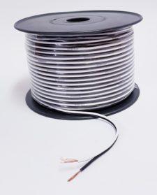 SPEAKER CABLE (100M) WHITE/BLACK 1.5mm