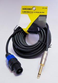 SPEAKON 4PIN TO 6.3mm METAL MONO (5M)