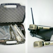 UHF WIRELESS/ CORDLESS DUAL HAND MICROPHONE SYSTEM WITH DIGITAL DISPLAY