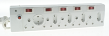 MULTIPLUG 10WAY WITH CORD + SWITCHES