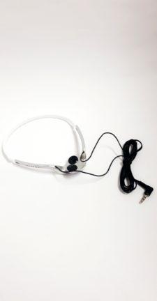 STEREO HEADPHONE (SMALL EARPIECE ) - SILVER