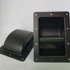 Speaker box/ cabinet HANDLE black metal HEAVY DUTY round - EACH