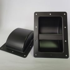 Speaker box/ cabinet HANDLE black metal HEAVY DUTY square - EACH