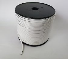 Speaker cable (100m) WHITE with black tracer line 1.5mm