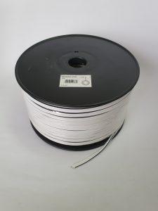 Speaker (100m) WHITE with black tracer line 2.5mm